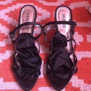 Strappy Ruffle Heels
